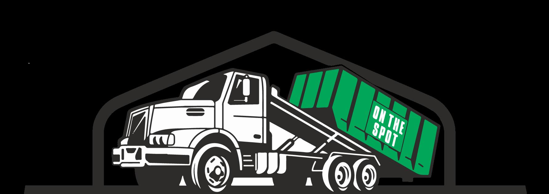 On The Spot Roll-Offs Truck Logo