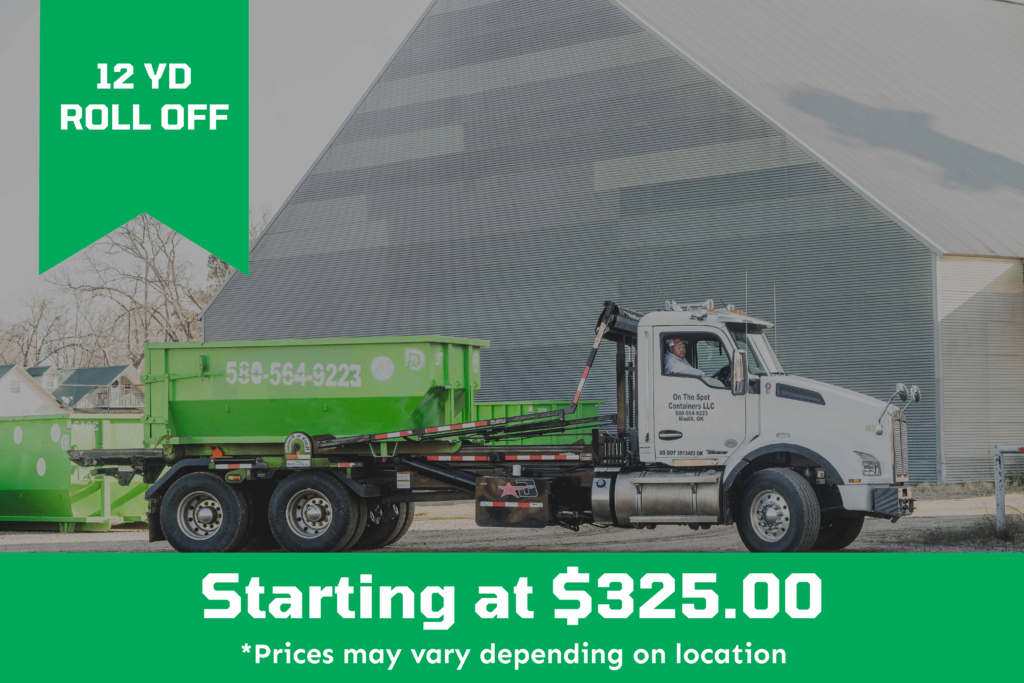 12 Yard Roll Off Dumpster starting at $325.00