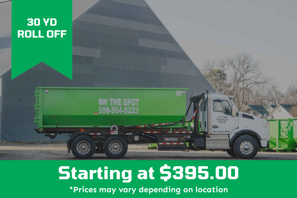 30 Yard Roll Off Dumpster starting at $395.00