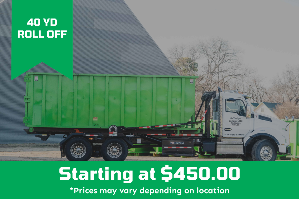 40 Yard Roll Off Dumpster starting at $450.00