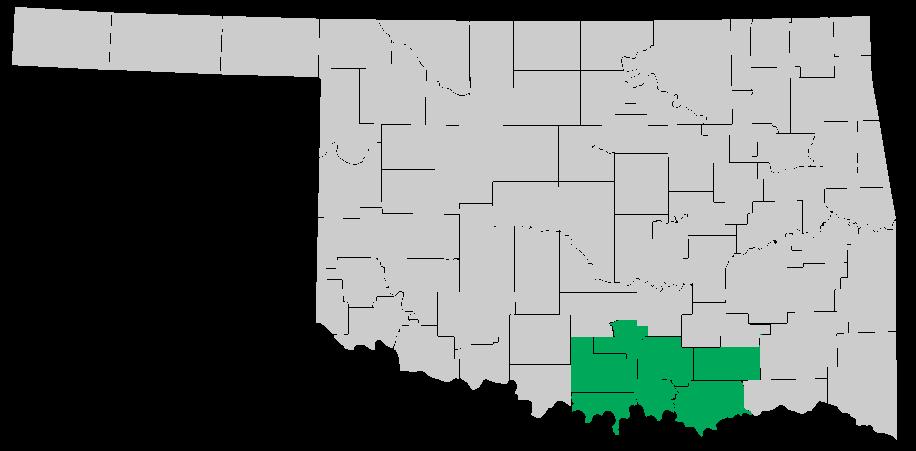 Service map for Marshall, Johnston, Carter, Love, Bryan, Atoka, and Murray County